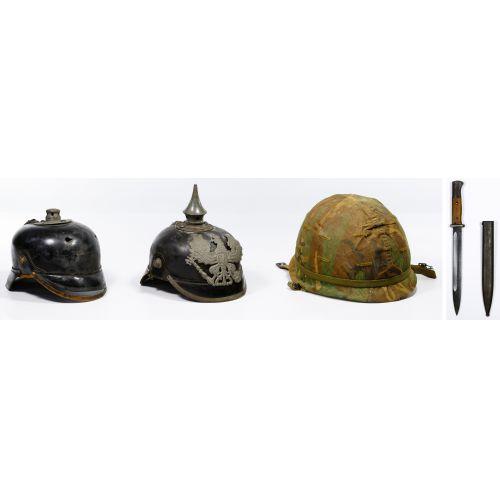 World War I German Prussian Pickelhaube Spiked Helmets