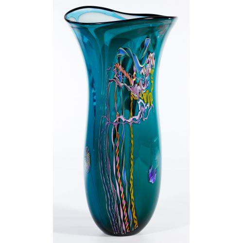 Dutch Schulze for Bandon Glass Art Glass Vase