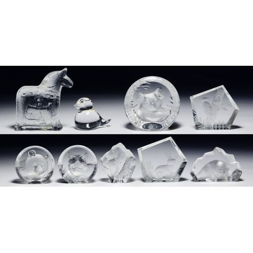 Swedish Crystal Paperweight Assortment