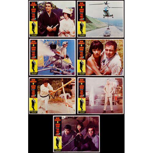 "1967 James Bond Movie ""You Only Live Twice"" Lobby Card Assortment"