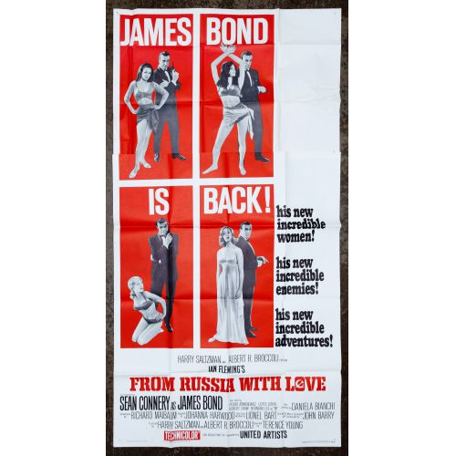 """James Bond Movie """"From Russia With Love"""" Theater Poster"""