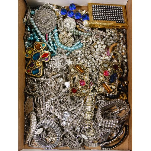 Clear and Colored Rhinestone Jewelry Assortment