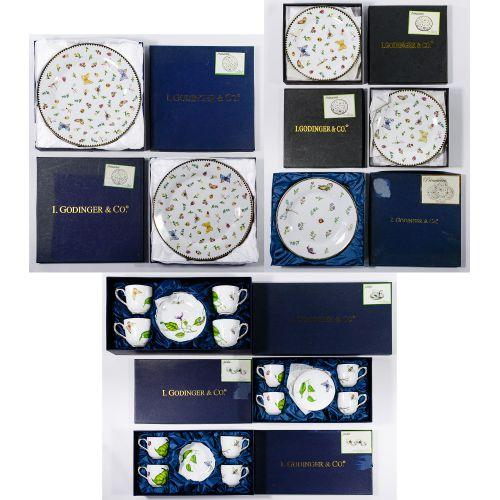 "I. Godinger & Co. ""Jardin"" Porcelain China"