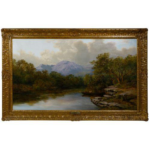 "Nathaniel Everett Green (English, 1823-1899) ""In Killorney"" Oil on Canvas"
