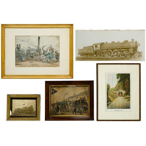 Train Print and Photograph Assortment