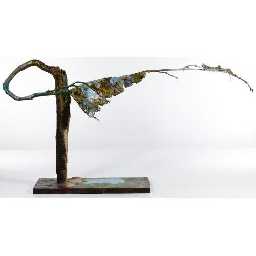 Bronze and Enamel Tree Sculpture