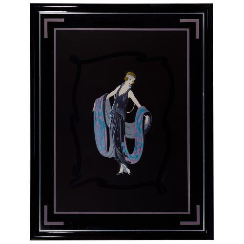 "Erte (Romain de Tirtoff) (Russian / French, 1892-1990) ""Gala"" Embossed Serigraph"