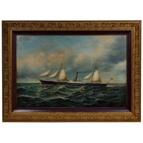 William Luscomb (American, 1805-1866) Oil on Panel