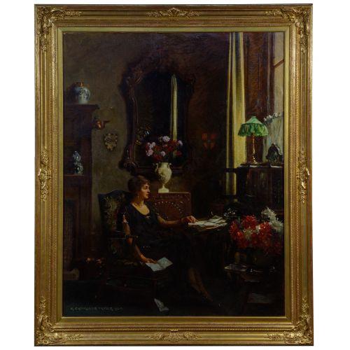 Albert Chevallier Tayler (English, 1862-1925) Oil on Canvas