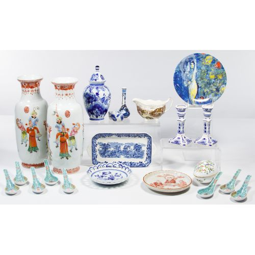 Asian and European Porcelain Assortment