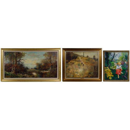 Unknown Artist (European, 20th Century) Oil on Canvas Landscape