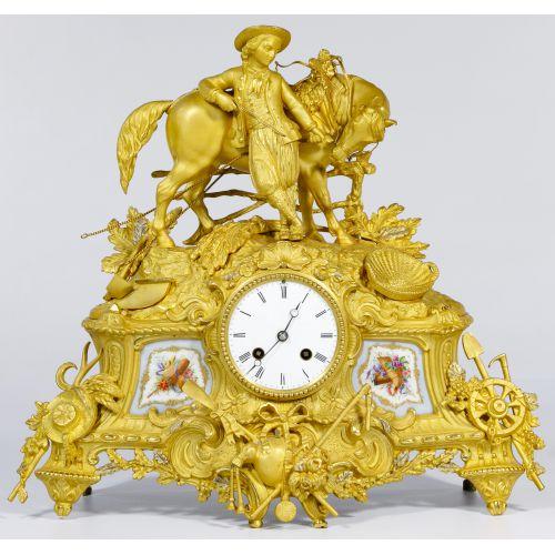 French Gilt and Ormulu Mantel Clock