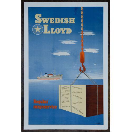 Swedish Lloyd Cargo Service Poster