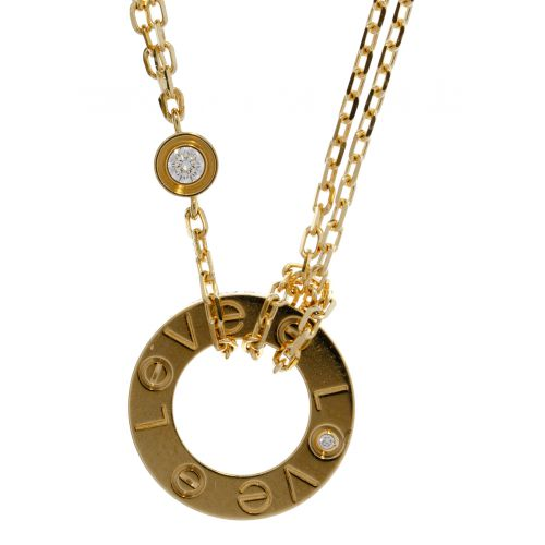 """Cartier 18k Yellow Gold and Diamond """"Love"""" Necklace"""