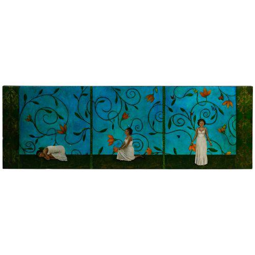 "Unknown Artist (American, 20th Century) ""The Metamorphosis"" Acrylic on Panel"
