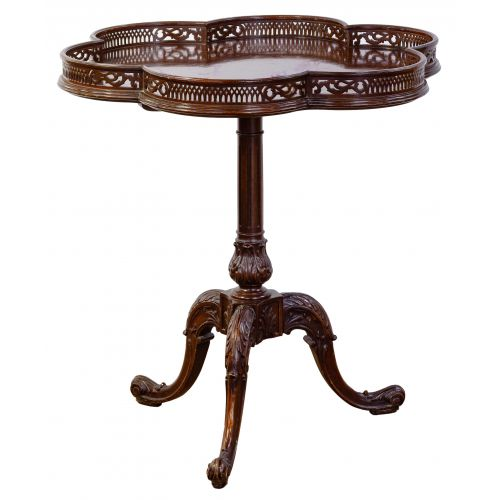 Mahogany Pie Crust Tilt-top Table