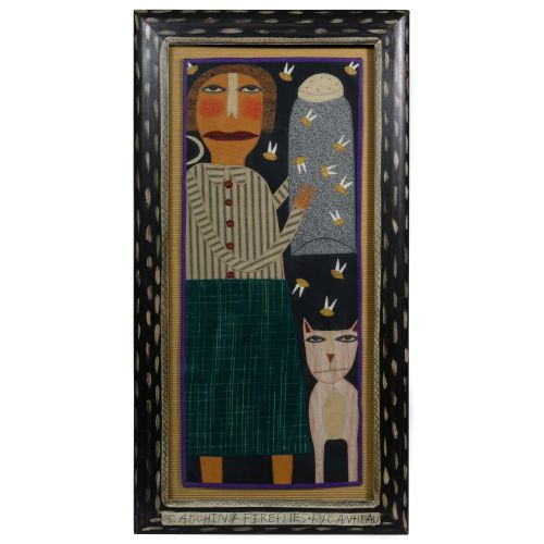 "Chris Roberts-Antieau (American, b.1950) ""Catching Fireflies"" Tapestry"