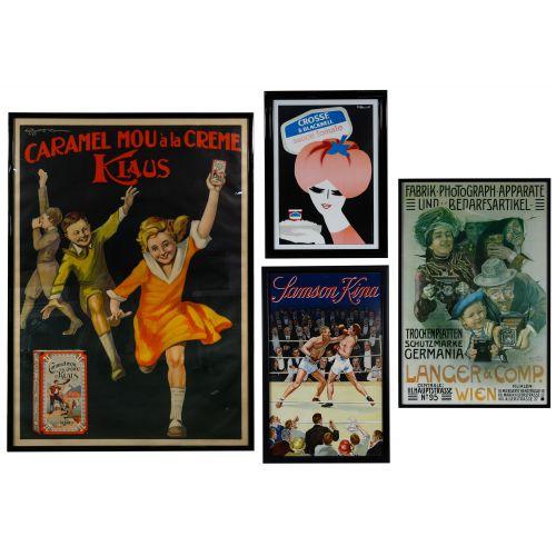 European Advertising Poster Assortment