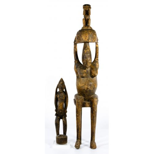 African Carved Wood Figurines