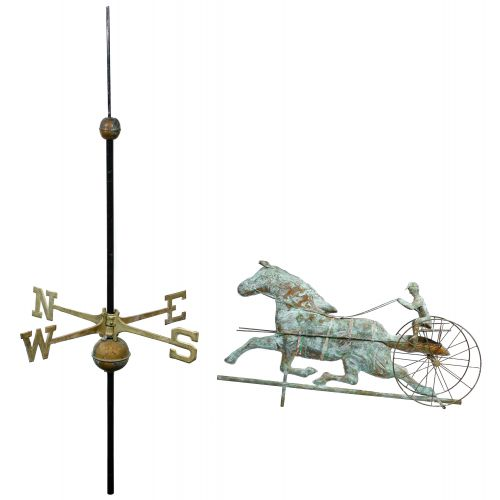 Copper Trotting Horse Weathervane