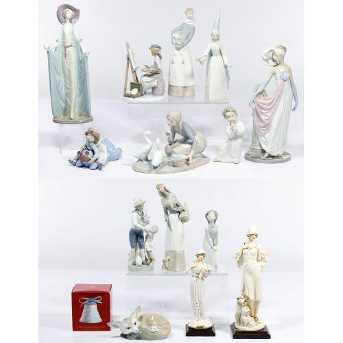 Lladro and Armani Figurine Assortment