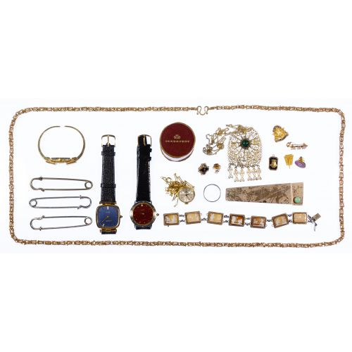 Wrist Watch and Jewelry Assortment