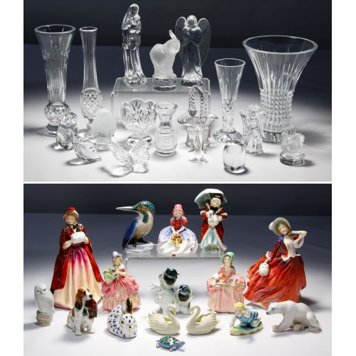 Lalique, Baccarat, Waterford, Royal Doulton, Herend Assortment