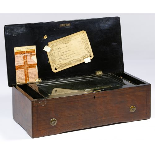 Swiss Marquetry Case Music Box