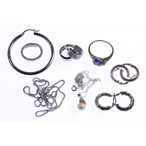 14k White Gold Jewelry Assortment