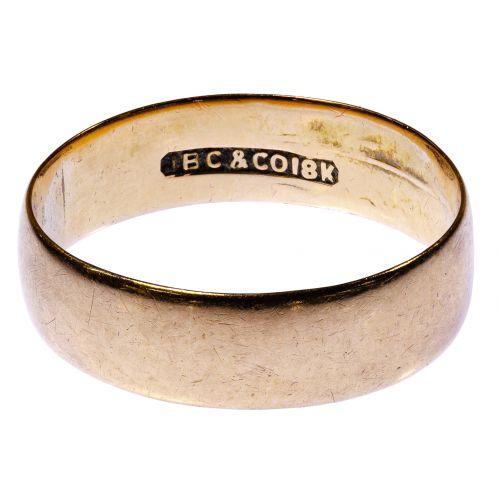 I B C & Co 18k Gold Band Ring