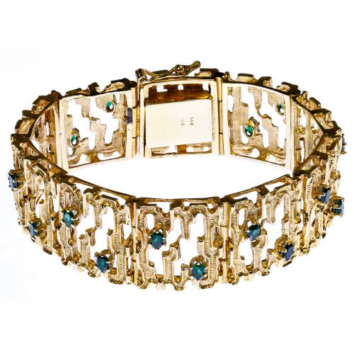 14k Gold and Semi-Precious Gemstone Bracelet