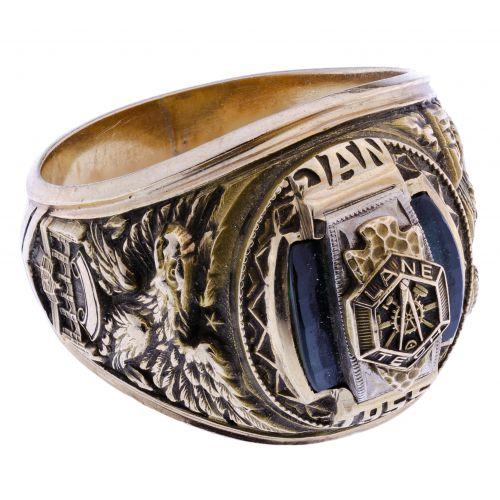 10k Gold 1955 Lane Tech High School Ring