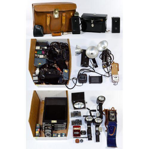Camera, Lens and Camera Equipment Assortment