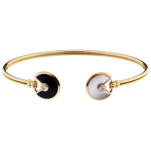 "Cartier 18k Pink Gold ""Amulette de Cartier"" Cuff Bracelet"