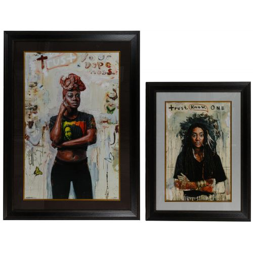 "Tim Okamura (Canadian, b.1968) ""Trust Your Dopeness"" Giclee Reproduction Print"