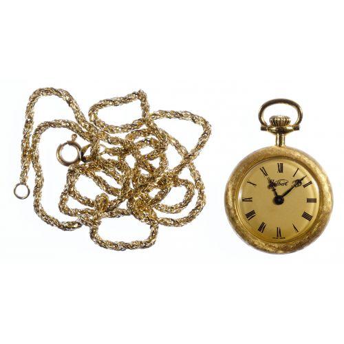 Kelbert Uhlmann & Cie 18k Gold Pendant Watch