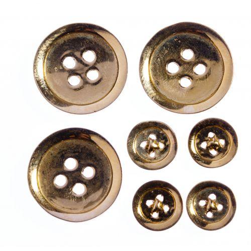 14k Gold Button Assortment