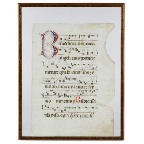 Illuminated Hymn on Vellum