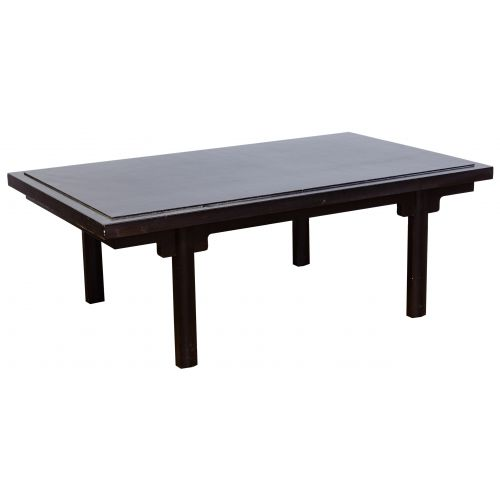 Paul M. Jones Black Lacquered Coffee Table