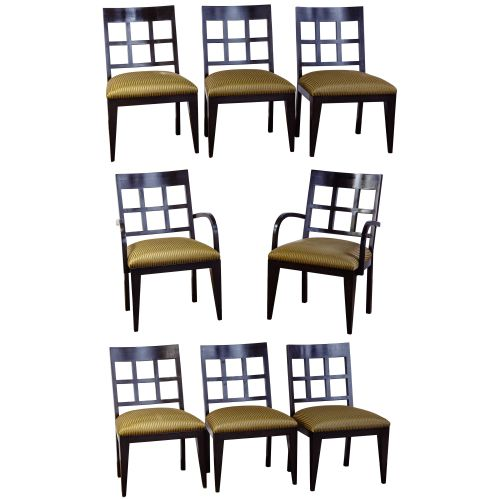Berman-Rosetti Fretwork Wood Dining Chair Collection