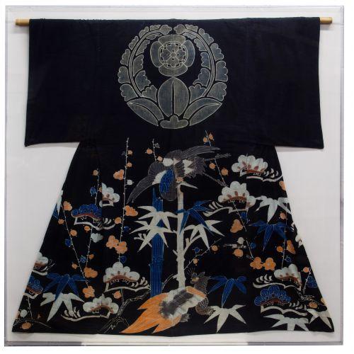 Asian Framed Linen Kimono