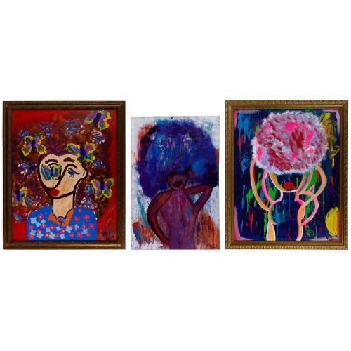 """Alisa Rawls (American, b.1988) """"Bailadora II"""" Acrylics on Canvas"""