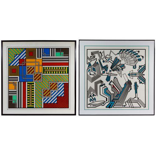 "Richard Spinner (American, 20th Century) ""Michigan Avenue"" Silkscreen on Paper"