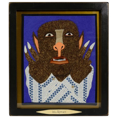 "Chris Roberts-Antieau (American, b.1950) ""Wolfman"" Tapestry"