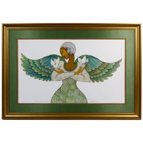 "Charles Bibbs (American, 20th century) ""Angel of Peace"" Giclee on Paper"