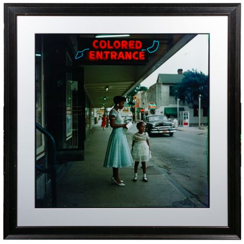 """(After) Gordon Parks (American, 1912-2006) """"Segregation in the South"""" Reproduction Giclee Print"""