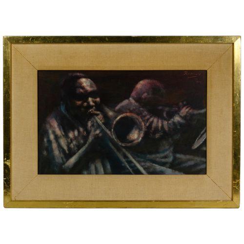 Noel Rockmore (American, 1928-1995) Oil on Panel