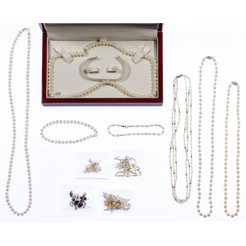 14k Gold, Gemstone and Pearl Jewelry Assortment