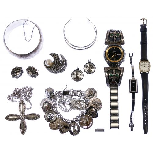 Sterling Silver Jewelry and Wrist Watch Assortment
