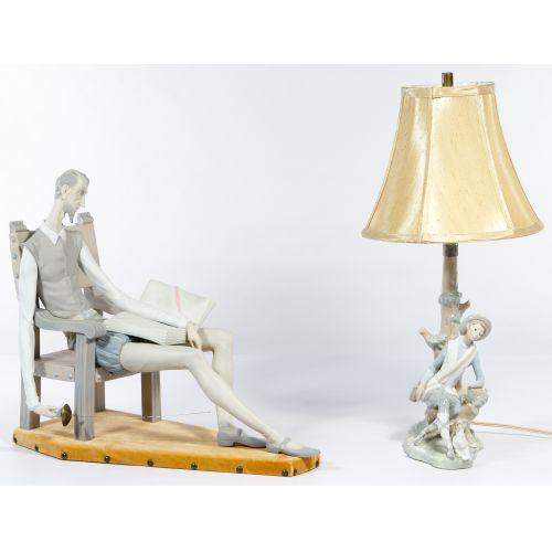 Lladro Figurine and Lamp